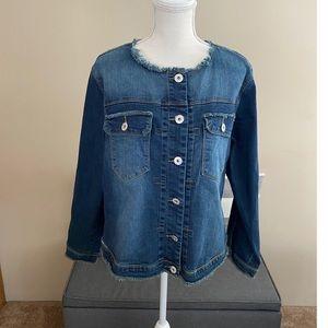 NWT Ashley Stewart Denim Jacket Size 18/20